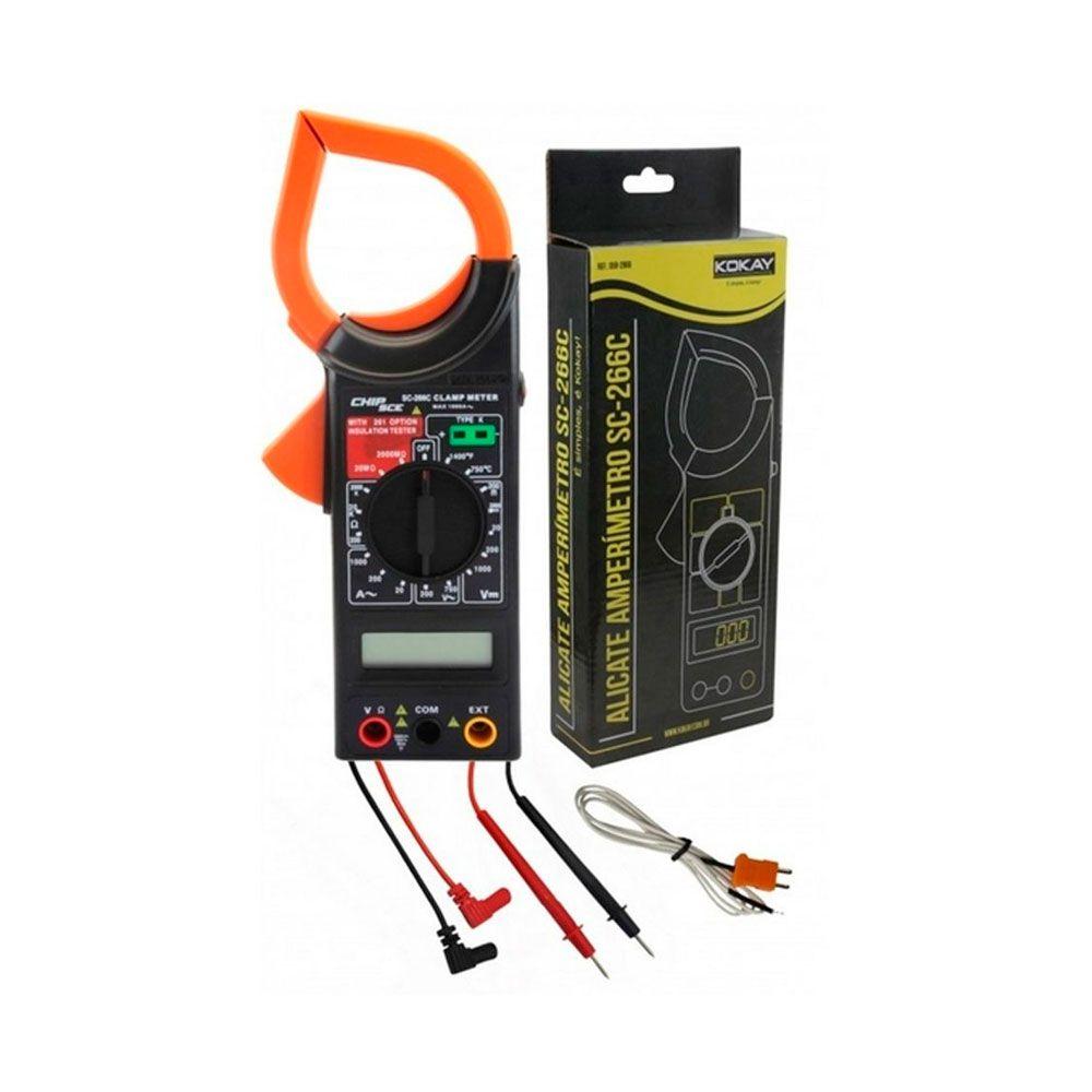 Alicate Amperímetro com Medidor de Temperatura Kokay - 058-2866