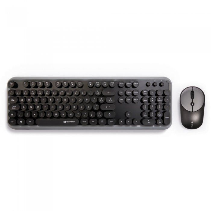 C3 Tech Kit Teclado e Mouse Wireless K-W200