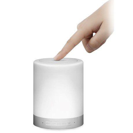 Caixa de Som C3 Tech Bluetooth Speaker Luminus Touch Led, SP-BL1000WH - BL1000WH