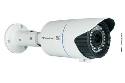 Camera Bullet Tecvoz Flex HD 5X1 720p 1.0 M 2,8/12mm 40mts CCB-10V