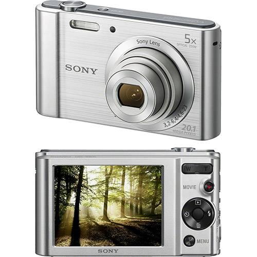 Câmera Digital Sony W800 20.1MP, 5x Zoom Óptico, Foto panorâmica, Vídeos HD, Prata - DSC-W800