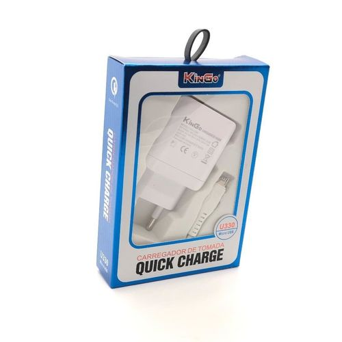 CARREGADOR TURBO QUICK CHARGE USB 2.0 KINGO