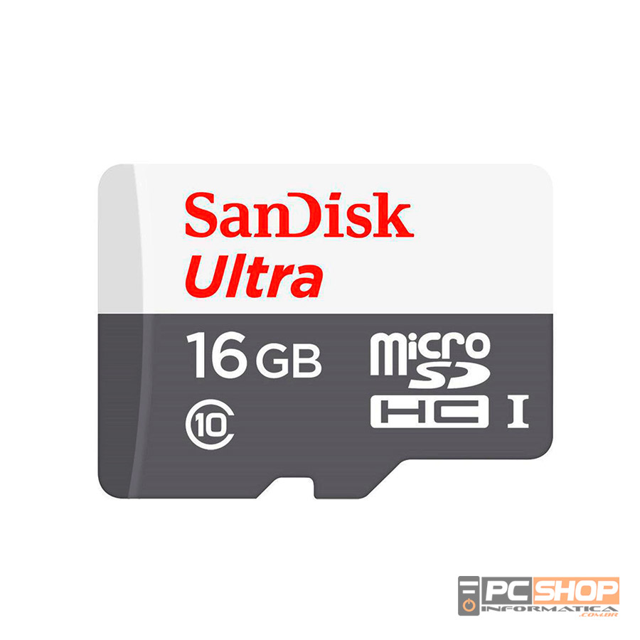 CARTÃO DE MEMORIA 16GB MICRO SD ULTRA C/ ADAPT 80MB/S SANDISK