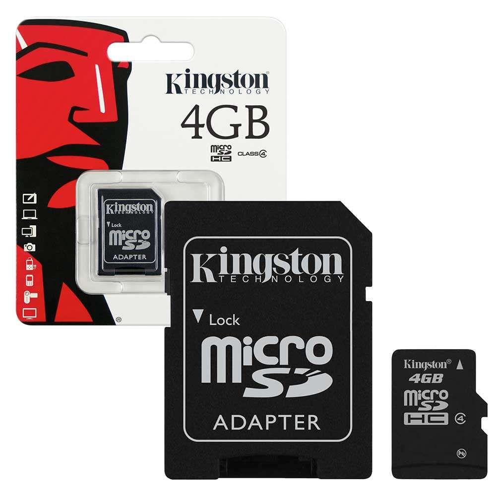 Cartão de Memória Kingston Micro SD 4GB sem adaptador mSDC4/4GB - SDC4/4GB