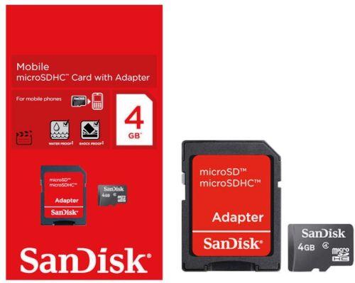 Cartão de memória SDHC 4 GB Sandisk SDSDB-004G - SDSDQM-004G-B35