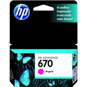 HP Inc. CARTUCHO TINTA HP 670 MAGENTA - CZ115AB - CZ115AB
