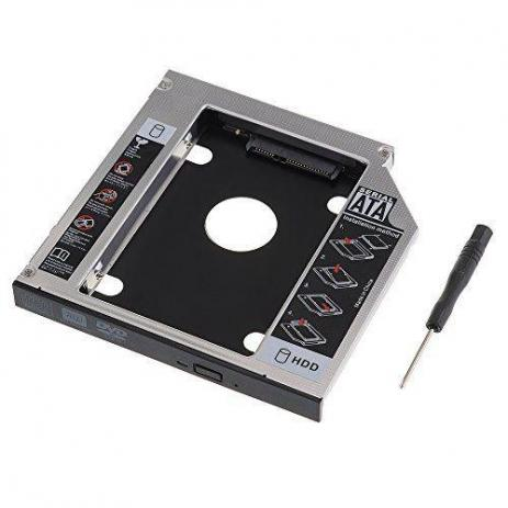 CASE HD ADAPTADOR 9,5MM SEGUNDO HD SSD SATA NO NOTEBOOK*