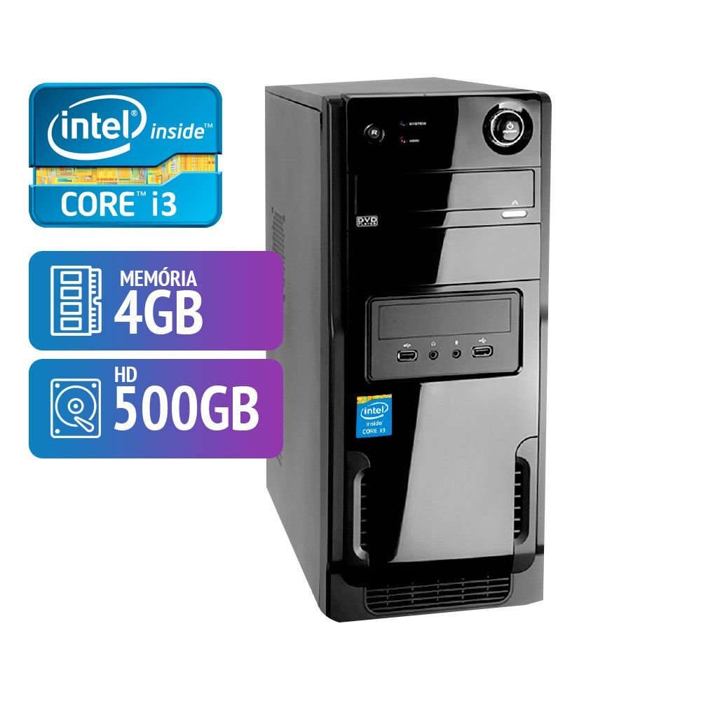 Computador Hawkeye Intel Core I3 4GB HD 500GB