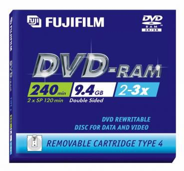 DVD-Ram Panasonic 9.4GB Type IV 2x/3x (Cart - LM-AD240LU
