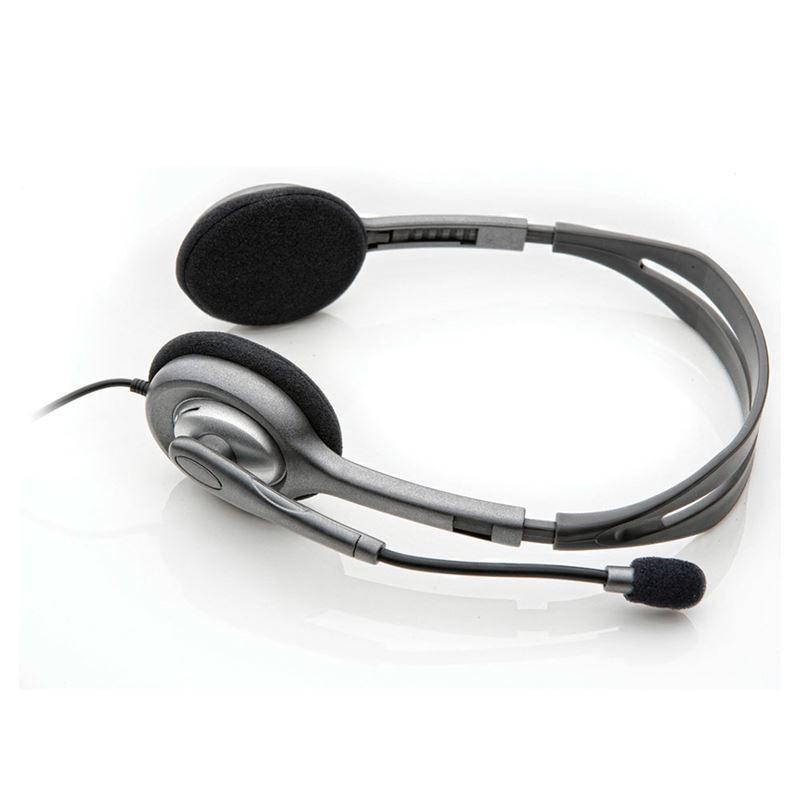 Fone de Ouvido Logitech H111 Estéreo Analógico P3 Cinza 981-000612