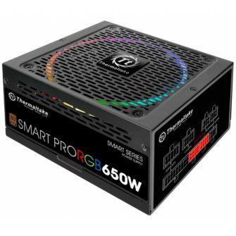 Fonte 650W Thermaltake Smart Pro RGB 80 Plus Bronze PFC Full Modular