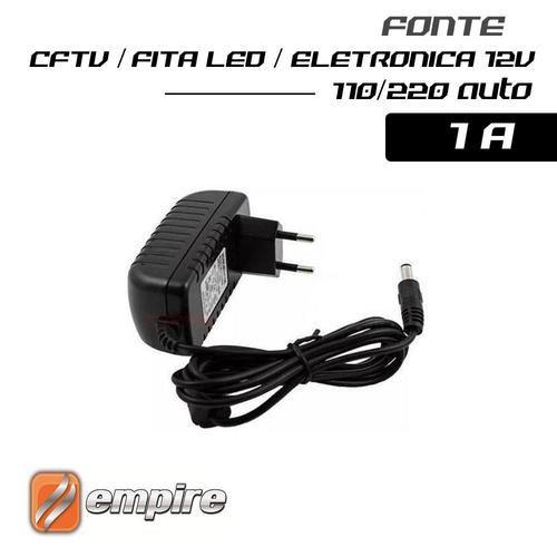 Fonte para CFTV / FitaLed / Eletronica 12V 1A - Empire - CFTV fonte Chaveada Instalação*
