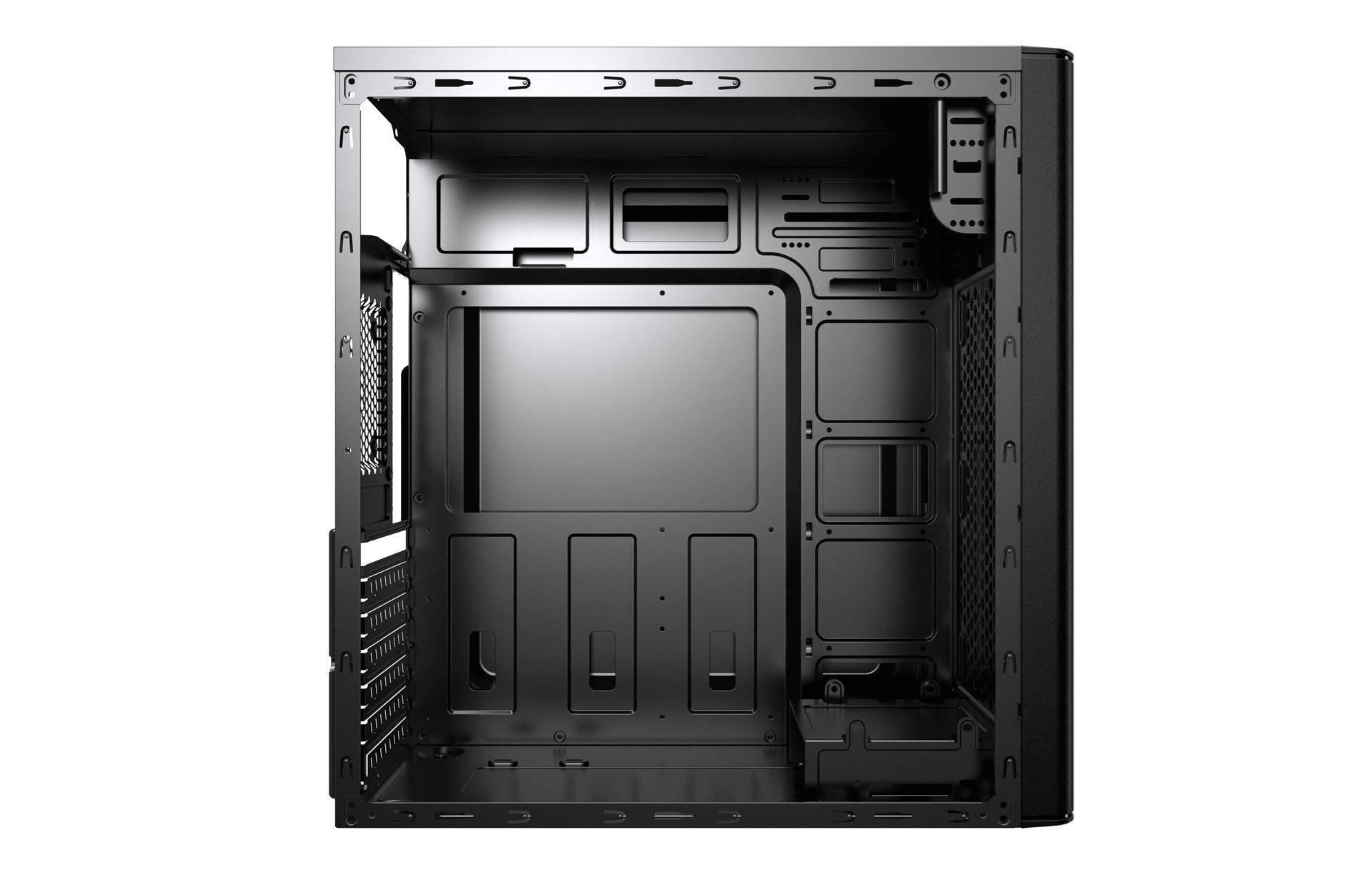 Gabinete BR PC 3601 Preto 2 baias  (2xUSB +1 usb 3.0+ AUDIO)