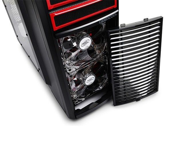 Gabinete Gamer DeepCool Kendomen Red sem Fonte KDM5FBKRD - DP-CCATX-KDM5FBKRD
