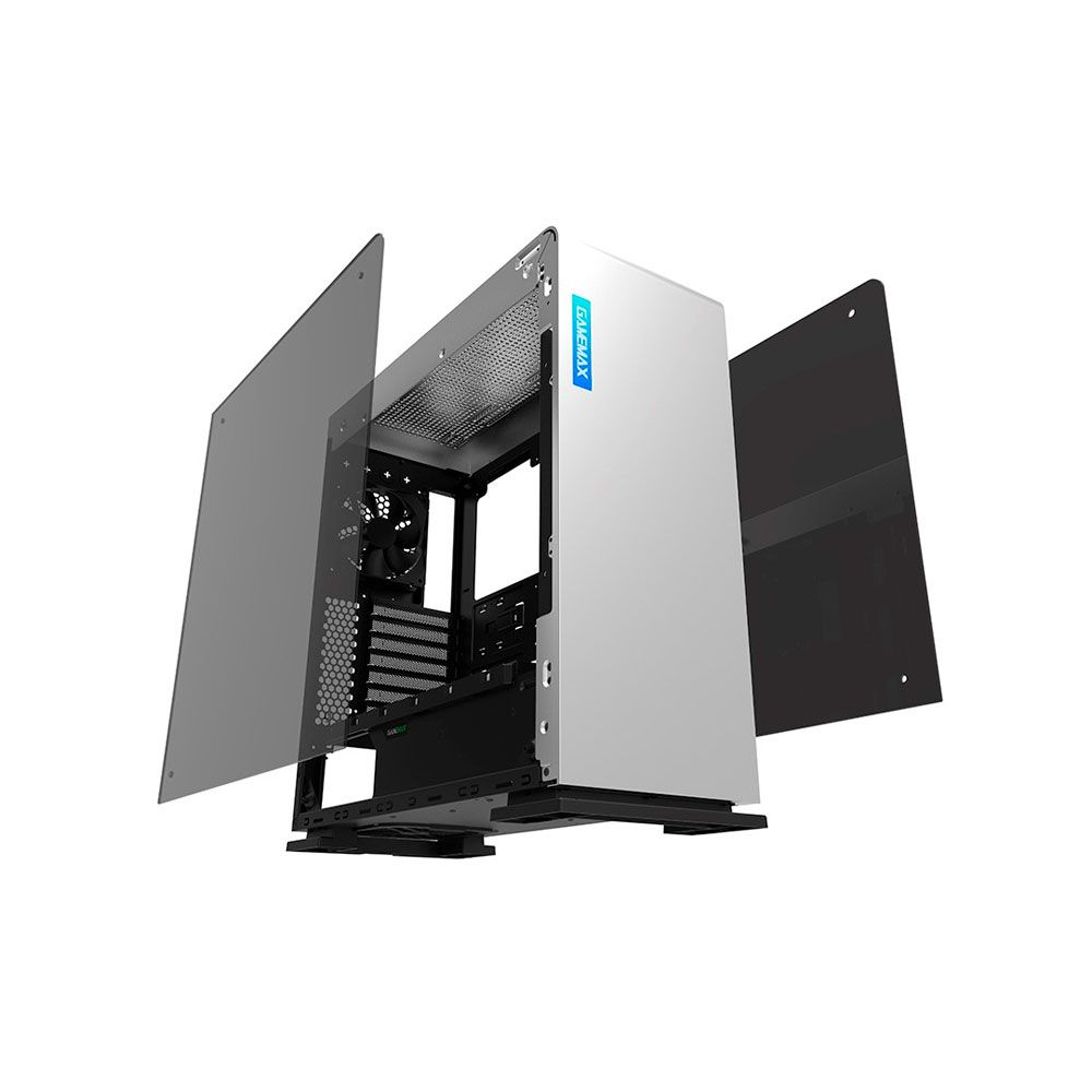 Gabinete Gamer Gamemax M909 Vega RGB Mid Tower Branco