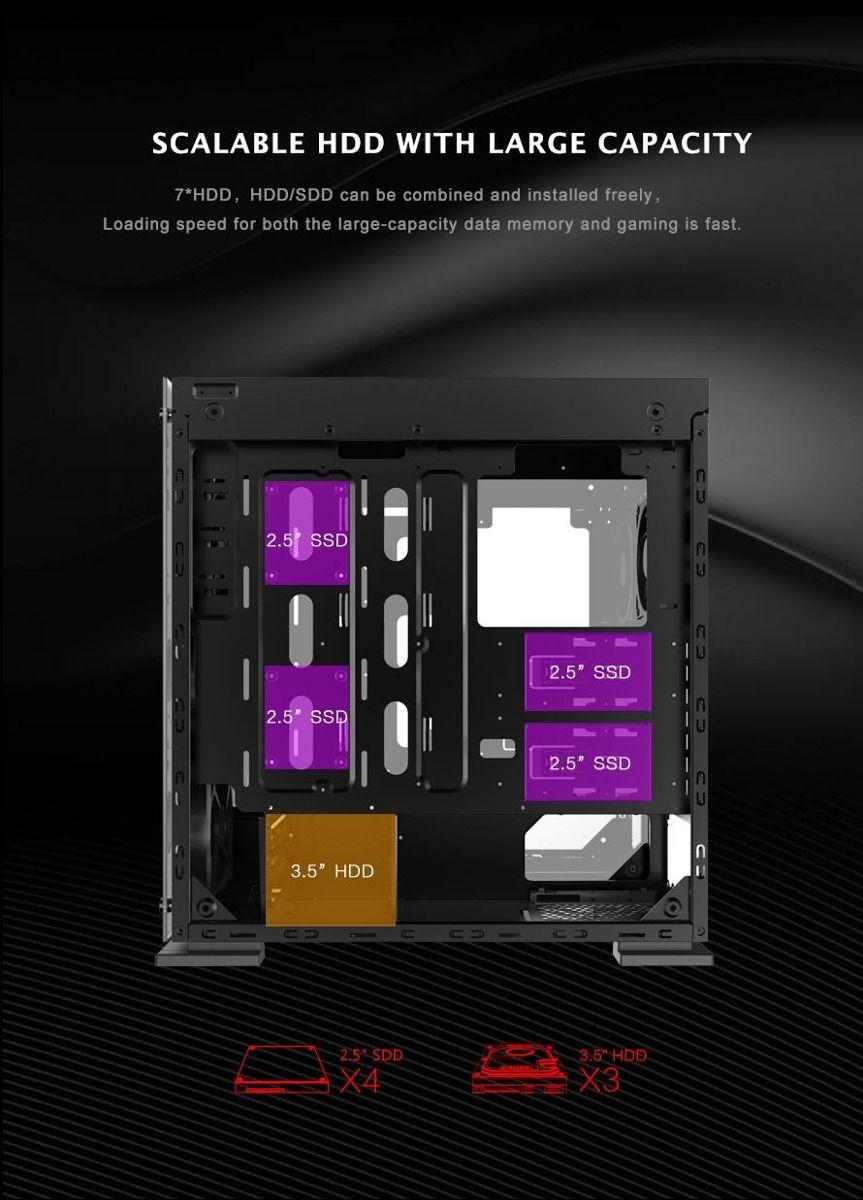 Gabinete Gamer Gamemax ONYX II RGB M910 Laterais e Frontal de Vidro - M910