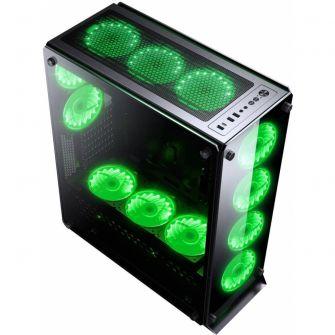 Gabinete Gamer Redragon Ironhide Vidro Temperado RGB RD-GC-801 S/F