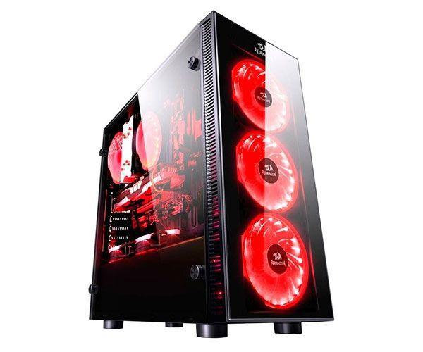 Gabinete Gamer Redragon Sideswipe Vidro Temperado RGB RD- GC601 S/F