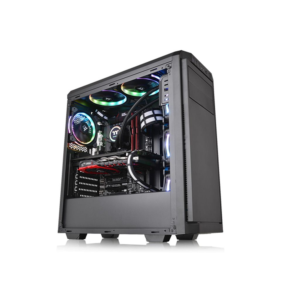 Gabinete Gamer Thermaltake V100 BLACK/NO WIN/SPCC CA-1K7-00M1NN-00
