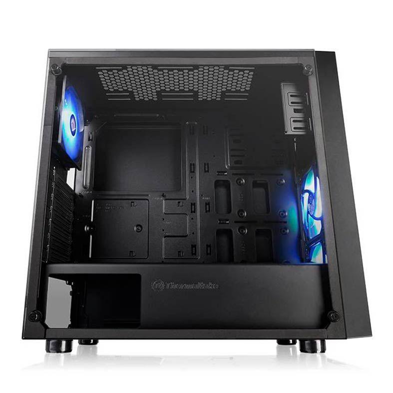 Gabinete Gamer Thermaltake Versa J22 TG RGB CA-1L5-00M1WN-01 Preto/LED