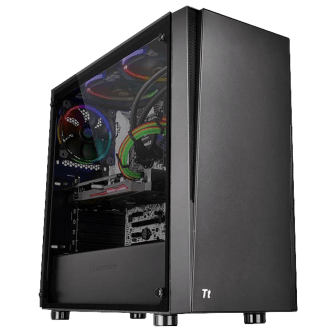 Gabinete Thermaltake Versa J21Tempered Glass CA-1K1-00M1WN-00 Mid Towe