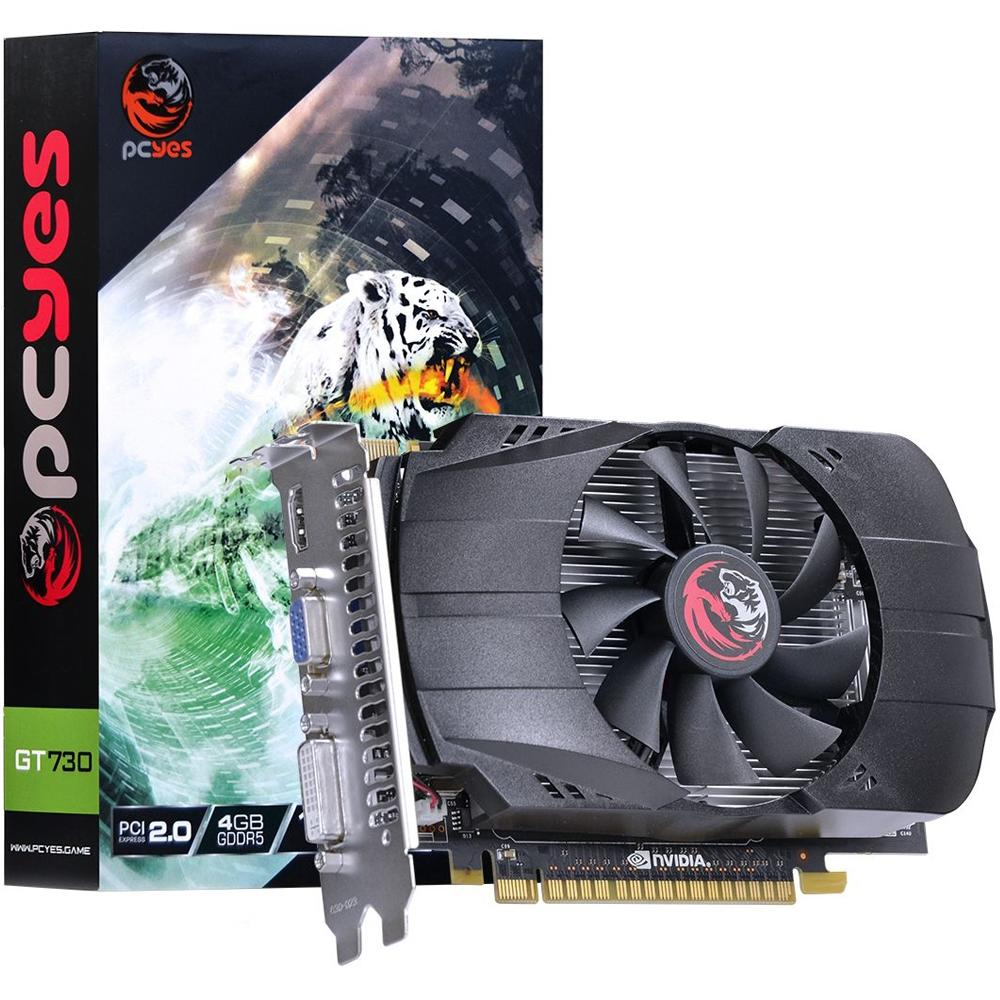 GPU GeForce 4GB GT730 Pcyes DDR5 128 bits Dual Fan PV73012804D5*