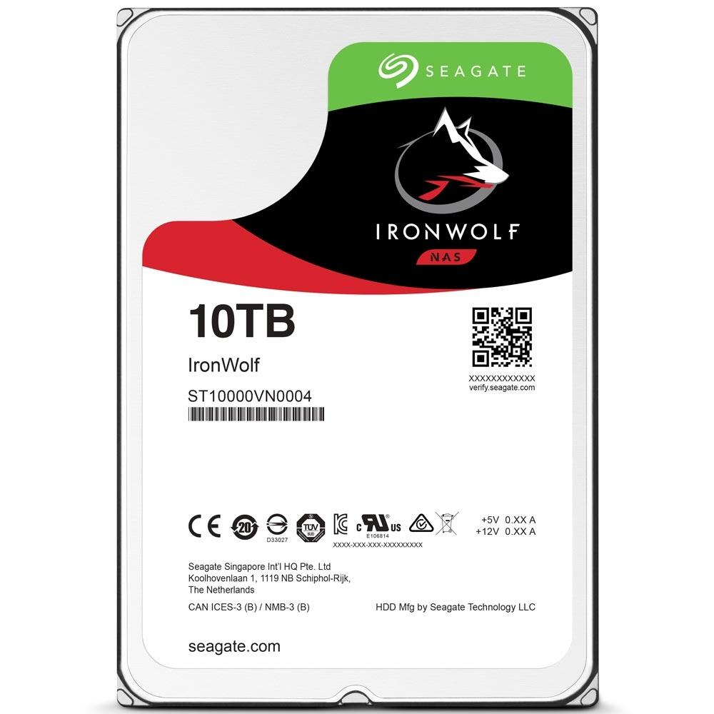 HD 10TB SATA Seagate IronWolf NAS 256MB 7200RPM ST10000VN0004
