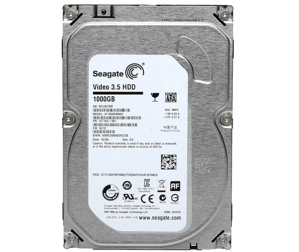 HD 1TB SATA III Seagate 64MB 5900RPM Pipilene ST1000VM002 (1ano de gar