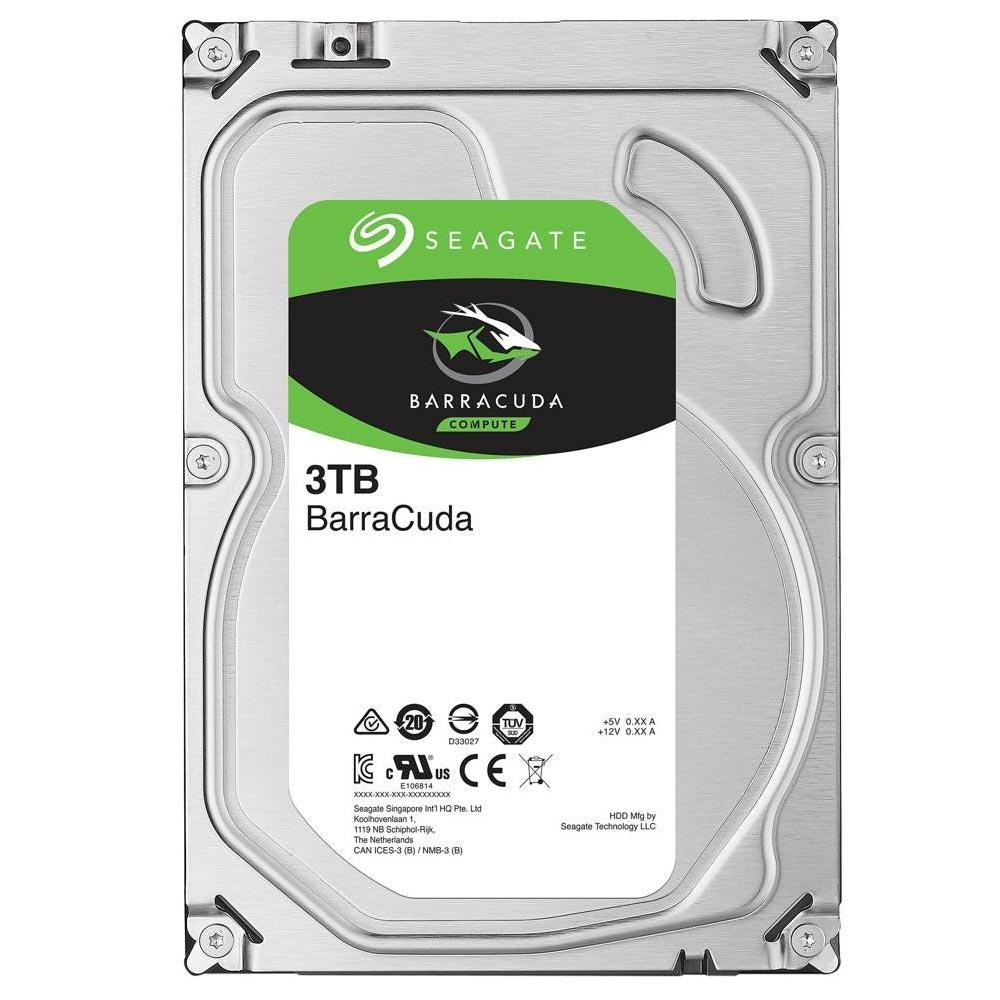 HD 3TB SATA III Seagate 64MB 7200RPM Barracuda ST3000DM008