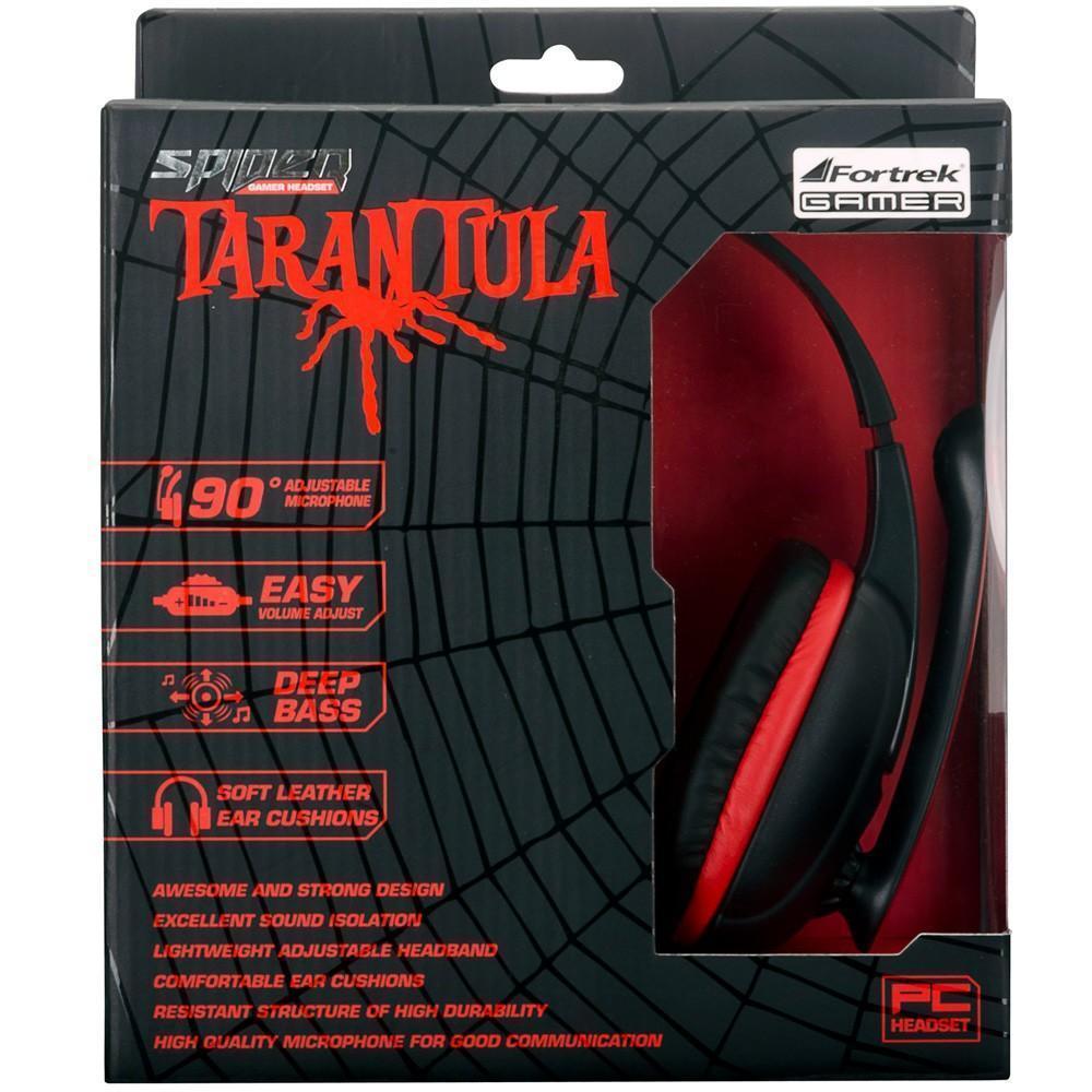 Headset Gamer P2 Spider Tarantula pretovermelho SHS-702 Fortrek