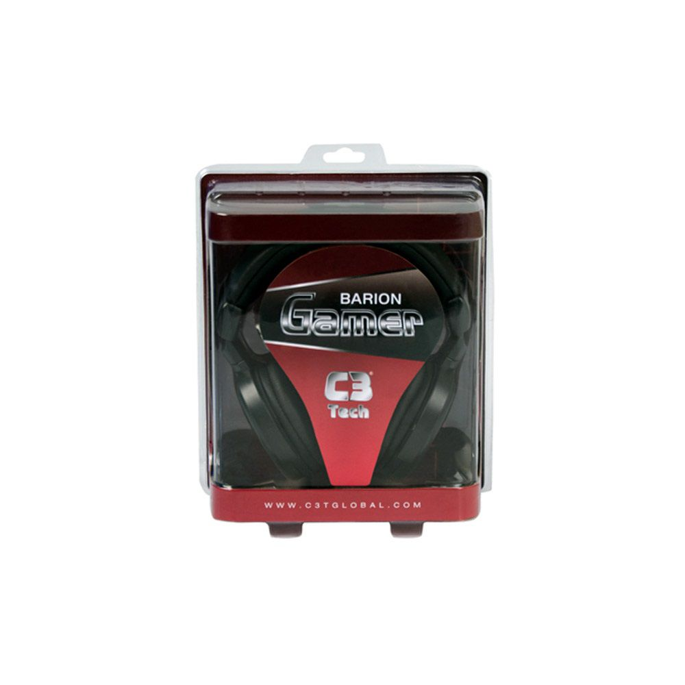 Headset Gamer C3 Tech Com Microfone Barion MI-2883RB Preto