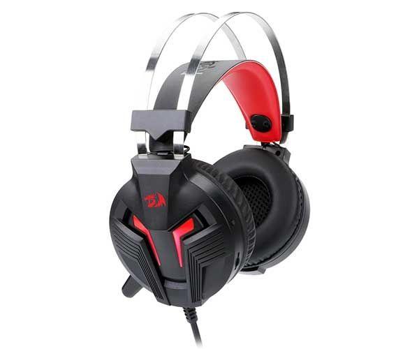 Headset Gamer Redragon P2 e USB Preto e Vermelho Memecoleous H112