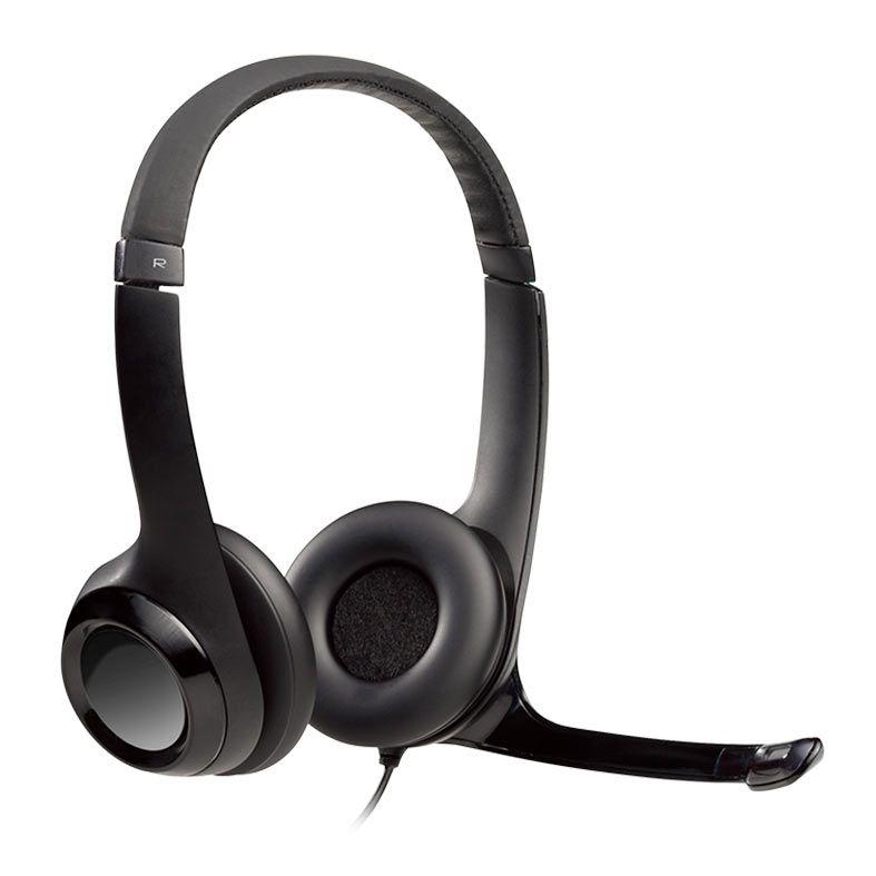 Headset Logitech H390 USB 2.0 em Couro com Controle de Volume - Preto - H390