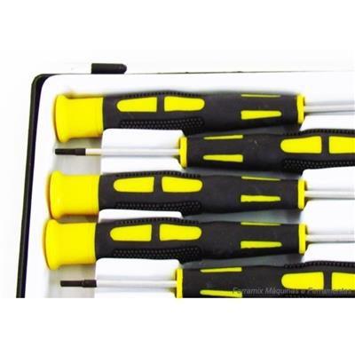 Jogo de Chaves Torx de Precisão com Ima T5 a T10 B361 Black Jack - B361