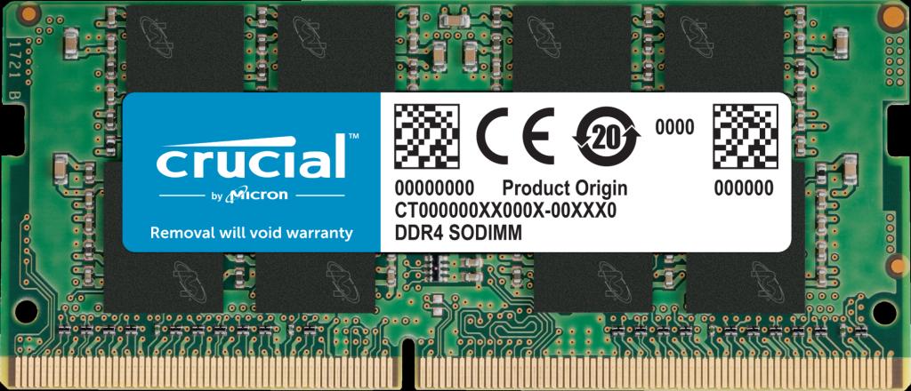 Memória 16GB DDR4-2666 SODIMM Crucial - CT16G4SFD8266*