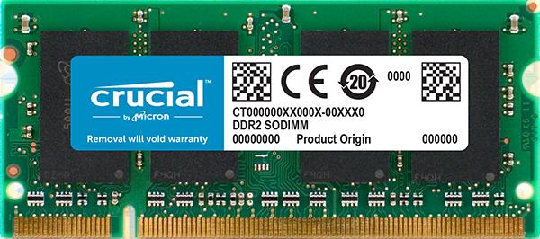 Memória 2GB DDR2 800MHZ SODIMM CRUCIAL-CT25664AC800-K16F
