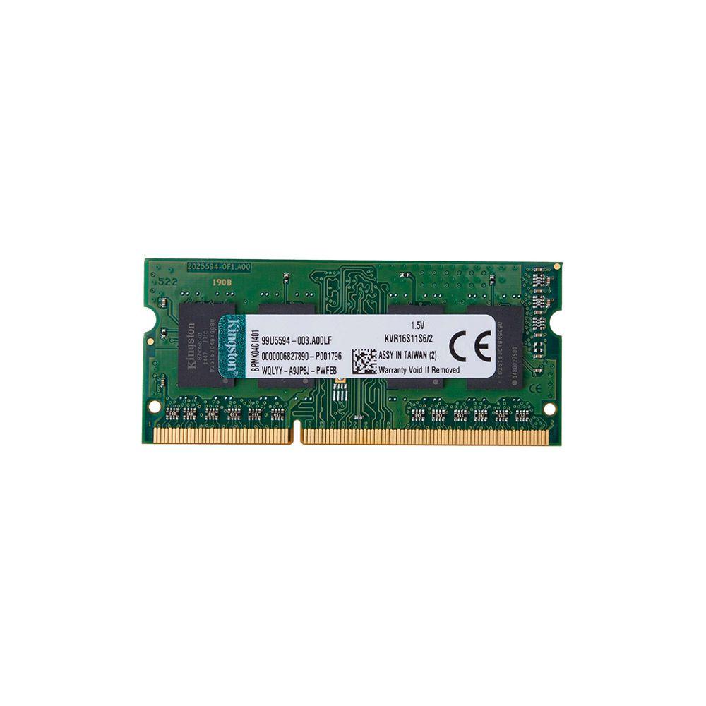 Memória 2GB DDR3 1600Mhz CL11 Kingston - Compatível com E480 - G053000112