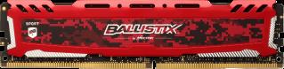 Memória 8GB D4 2666MHZ CRUCIAL BALLISTIK SPORT LT REDBLS8G4D26BFSEK