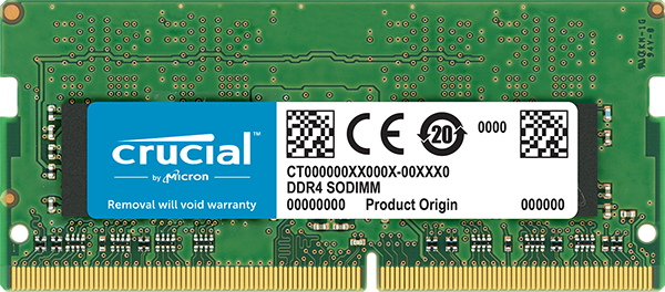 Memória Crucial 4GB DDR4 2666Mhz CL19 CT4G4SFS8266 p/Notebook