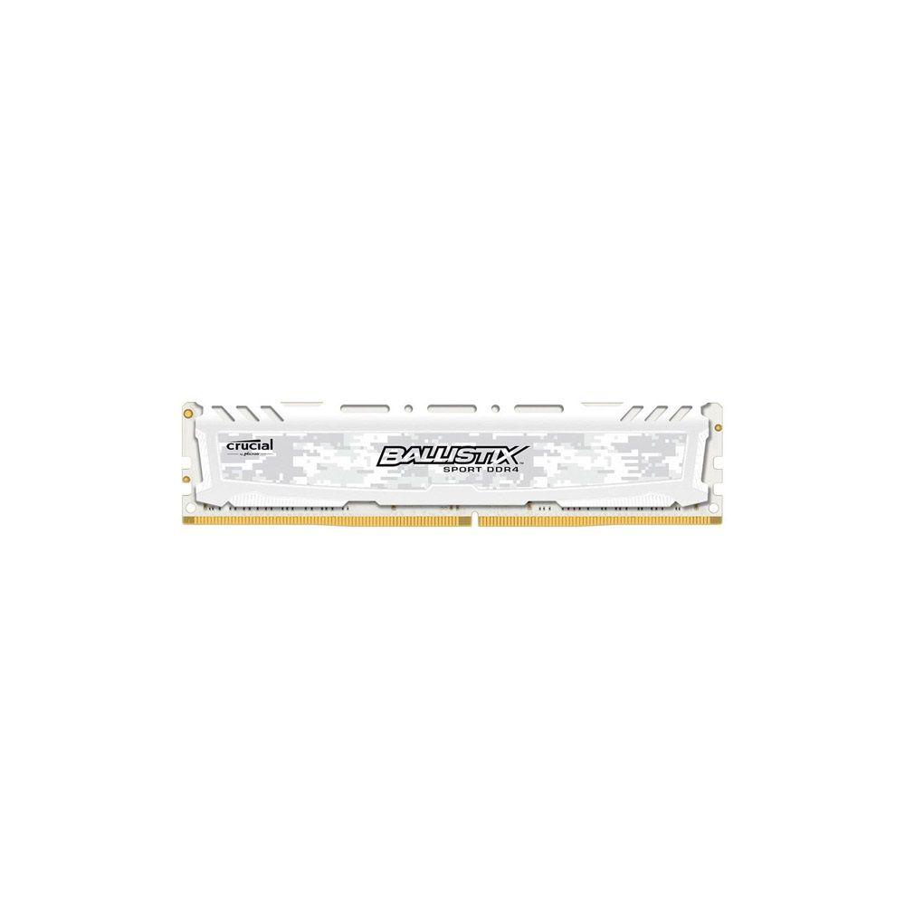 Memória Crucial Ballistix 8GB DDR4 2400Mhz White BLS8G4D240FSC
