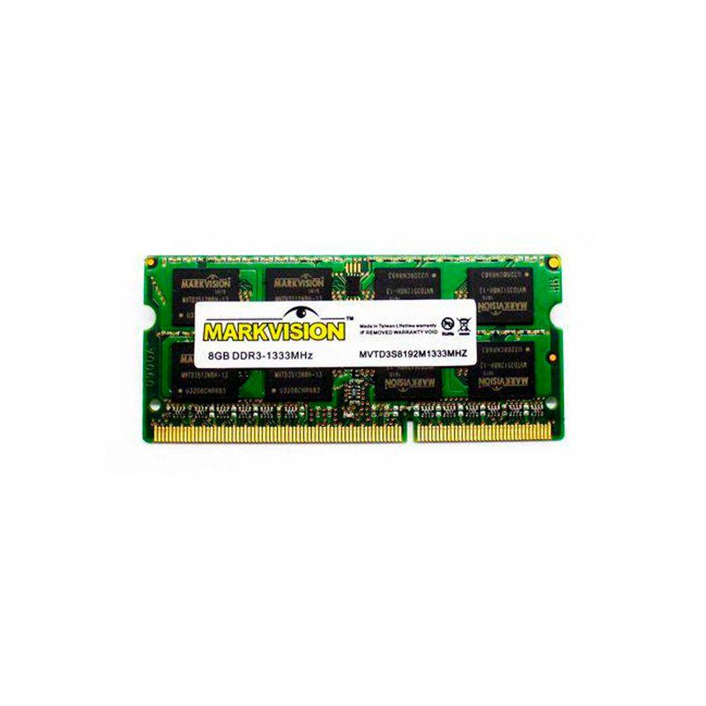 Memória 8GB DDR3 1600 Mhz MARKVISION Para Notebook - MVMB8G56SOX16C11