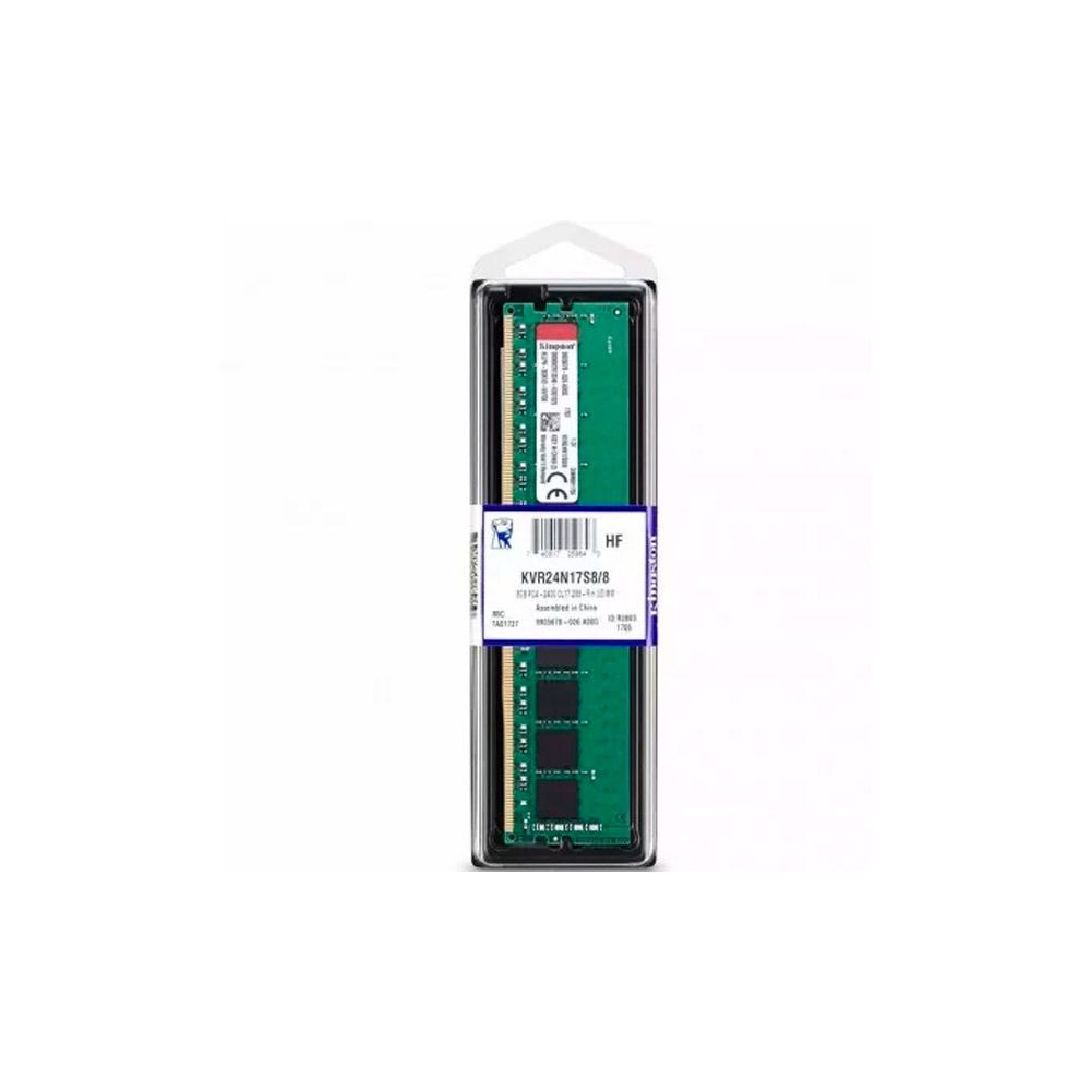 Memória Kingston 8GB DDR4 2400Mhz CL17- para Desktop  KVR24N17S8/8