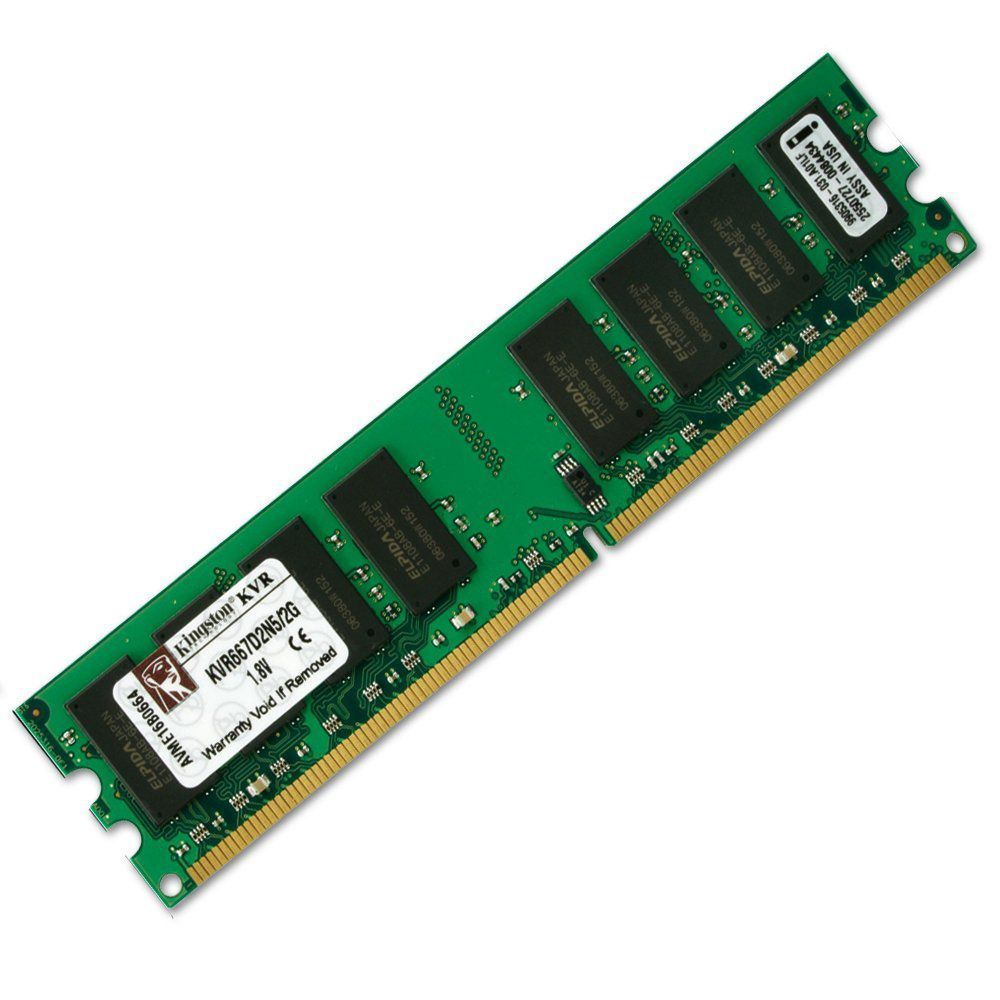 Memória 2GB DDR2 667Mhz CL5 Kingston - KVR667D2N5/2G