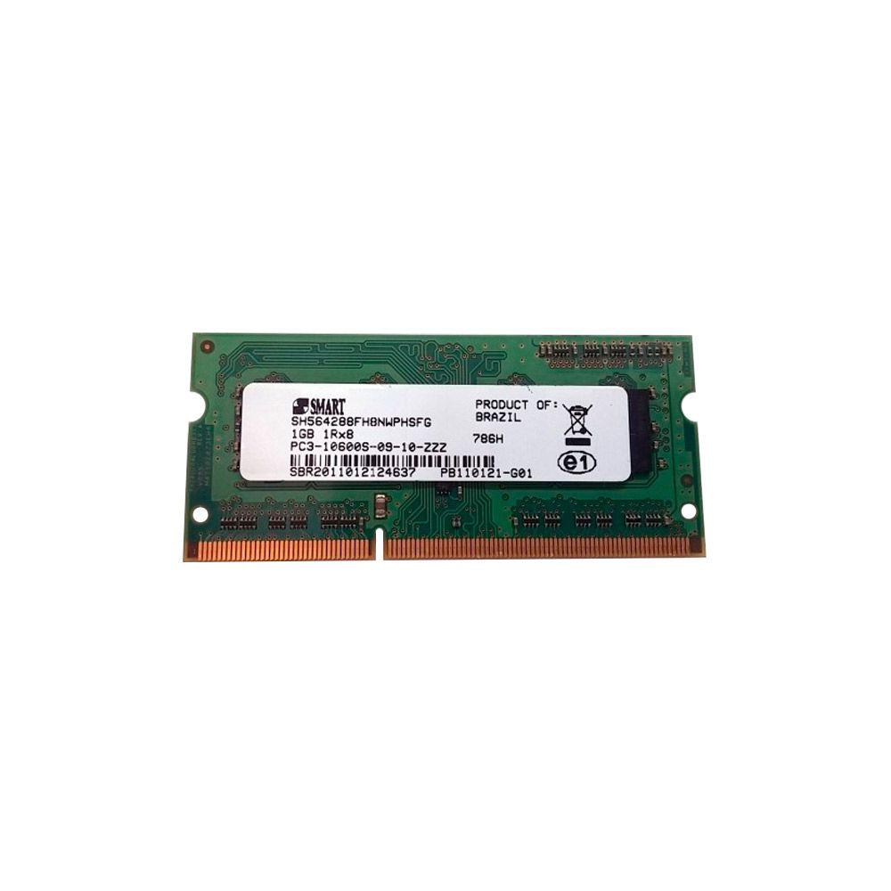 Memória Smart 1GB DDR3 1333Mhz p/ Notebook