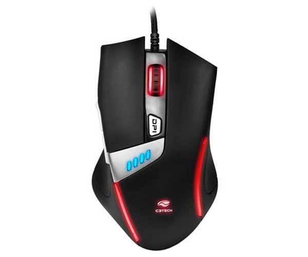 Mouse Gamer C3 Tech Griffin 4000DPI com Iluminação Preto MG-500BK