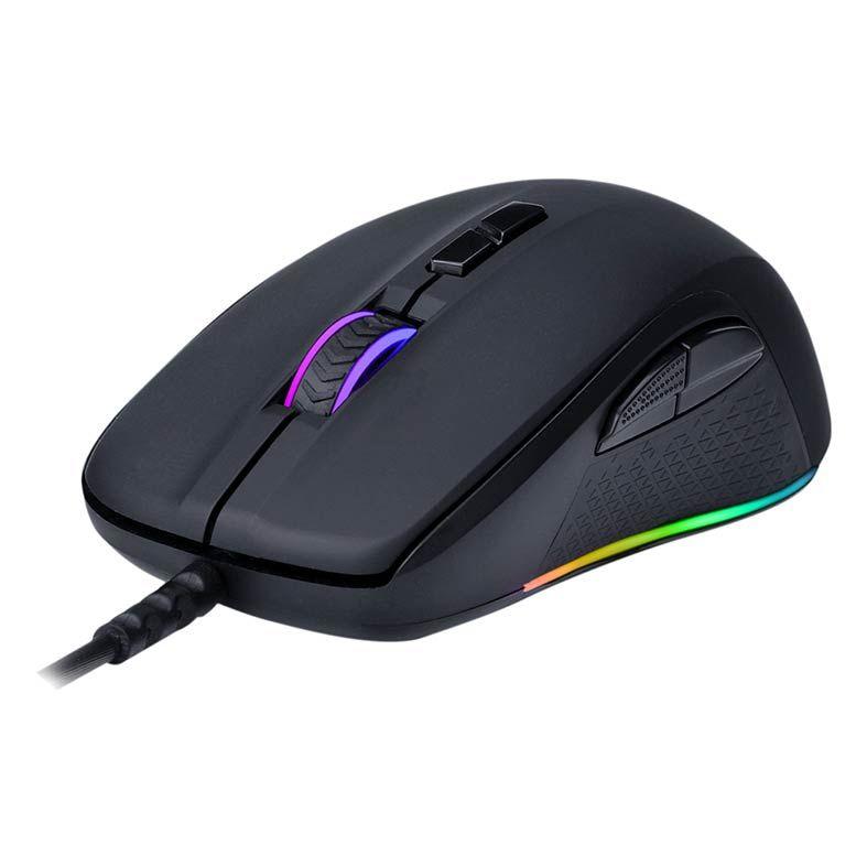 Mouse Gamer Redragon Stormrage Black M718 RGB 10000 DPI - M718-RGB