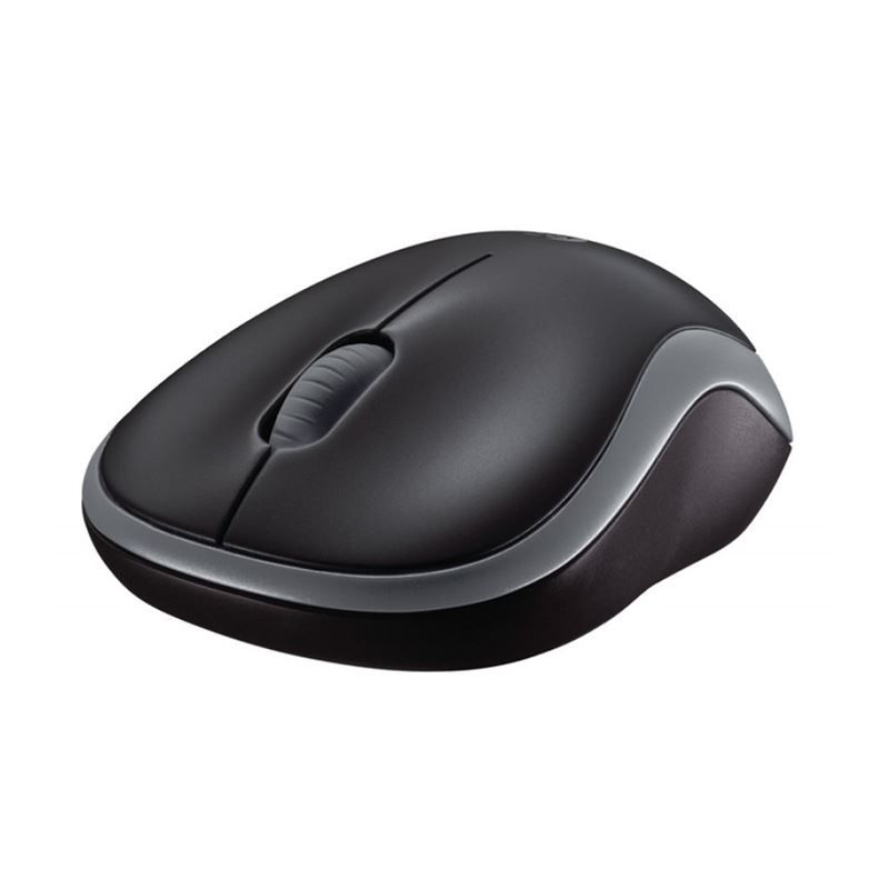 Mouse Logitech M185 Wireless USB Preto e Cinza*