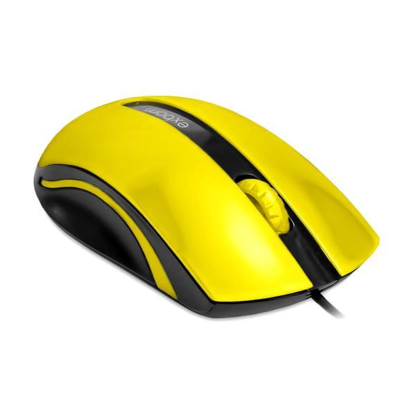 Mouse Óptico Conexão Usb 2.0 1000 Dpi Amarelo Ms-50 EXBOM