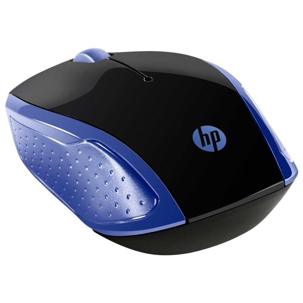 Mouse Óptico Sem Fio HP X200 Oman Azul