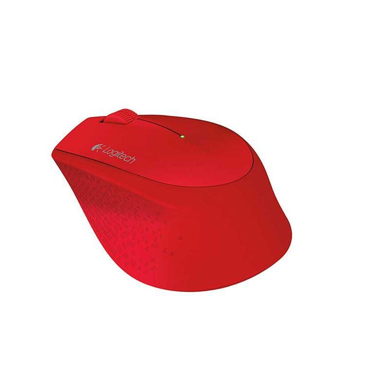Mouse Óptico Sem Fio Logitech M280 Vermelho